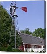 Cosley Zoo Windmill And Barn Canvas Print