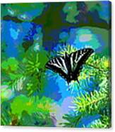 Cosmic Butterfly In The Pines Canvas Print