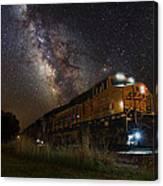 Cosmic Railroad Canvas Print