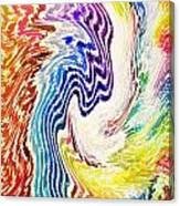 Cosmic Waves Vertical Canvas Print