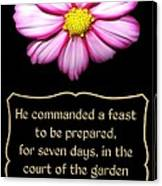Cosmos Flower With Bible Quote From Esther Canvas Print