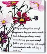 Cosmos Poem Canvas Print