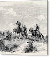 Cossacks Skirmishing Canvas Print
