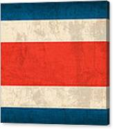 Costa Rica Flag Vintage Distressed Finish Canvas Print