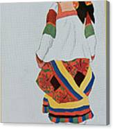 Costume Design For A Peasant Girl, 1922 Canvas Print