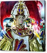 Costumed Man Tenerife Canvas Print