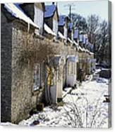 Cotswolds Cottages In Winter  Canvas Print