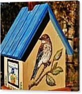 Cottage Birdhouse-back Canvas Print