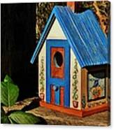 Cottage Birdhouse Canvas Print