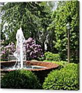 Cottage Garden Fountain Canvas Print