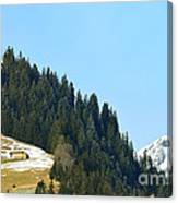 Cottage In Alps Canvas Print