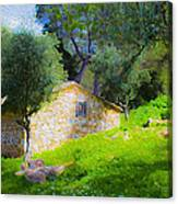 Cottage In The Forest Canvas Print