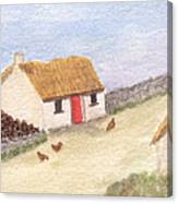 Cottage In The West Canvas Print