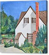 Cottage On A Hill Canvas Print
