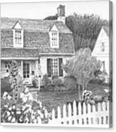 Cottage Pencil Portrait Canvas Print