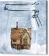 Cottage Snowglobe Canvas Print