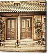 Cottage Townhouses In Lund Canvas Print