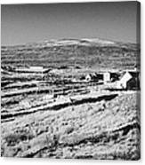 cottages and holiday homes with fields with dry stone walls gweedore county Donegal Republic of Ireland Canvas Print