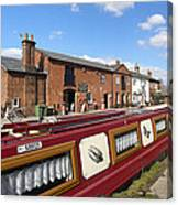 Cottages At Fradley Junction Canvas Print