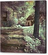 Cottages In The Woods Canvas Print