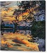 Cotton Bayou Sunrise Canvas Print