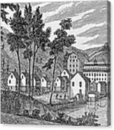 Cotton Factory Village, Glastenbury, From Connecticut Historical Collections, By John Warner Canvas Print