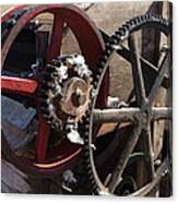 Cotton Gin Gears Canvas Print