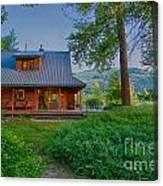 Cottonwood Cottage At Sunset Canvas Print