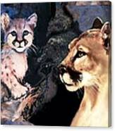 Cougar And Babe Canvas Print