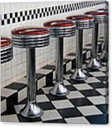 Counter Seats Canvas Print