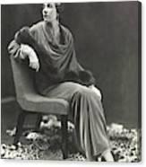 Countess Celani Lepri Wearing A Velvet Dress Canvas Print