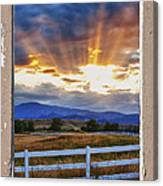 Country Beams Of Light Pealing Picture Window Frame Vie Canvas Print