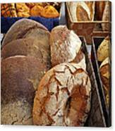 Country Bread And Muffins Canvas Print