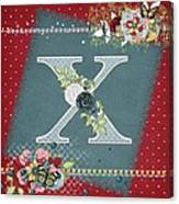 Country Charm Monogramed X Canvas Print