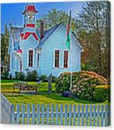 Country Church In Oysterville Wa Canvas Print