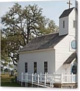 Round Top Texas Country Church Canvas Print