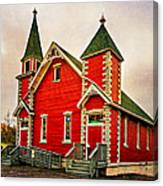 Country Church Paint Canvas Print