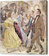 Country Dance, 1820s Canvas Print