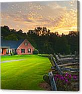 Country Estate Sunset Canvas Print