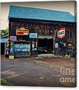 Country Garage Canvas Print