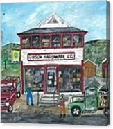 Country Hardware Store Canvas Print