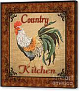 Country Kitchen Rooster Canvas Print