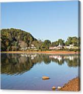 Country Lake Scene Canvas Print