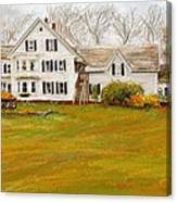 Country Moments-farmhouse In Woodstock Vermont Canvas Print
