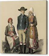 Country People From Ingelstad Canvas Print
