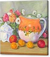 Country Pitcher With Sugar Bowl Canvas Print