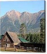 Country Ranch In Mountains Canvas Print