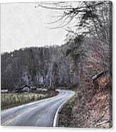 Country Road Take Me Home Photo Canvas Print