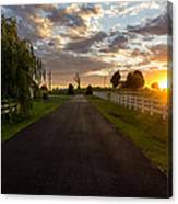 Country Setting Canvas Print