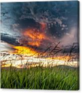 Country Sunset In Valenca - Brazil Canvas Print